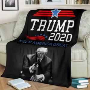 Donald Trump Fleece Blanket
