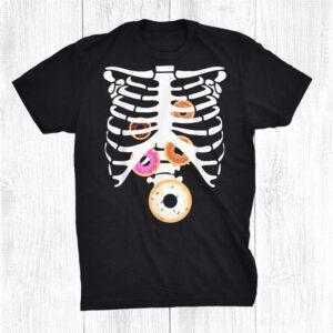 Donut Skeleton Rib Cage X Ray Spooky Halloween Costume Funny Shirt