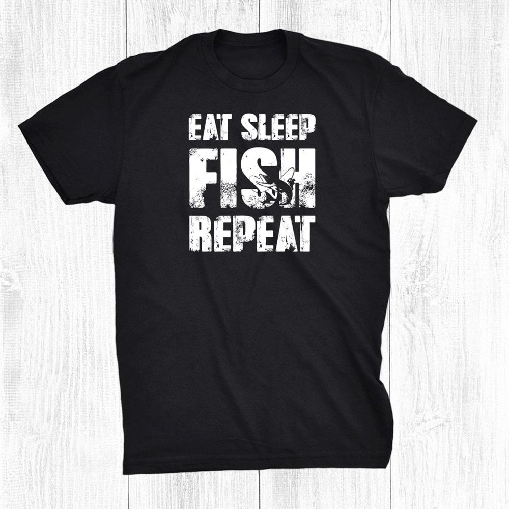 Eat Sleep Fish Repeat Fishing Shirt Lucky Fishing Shirt