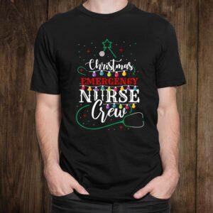 Emergency Nurse Christmas Crew Xmas Nursing Shirt