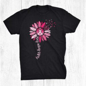 Faith Hope Love Breast Cancer Awareness Shirt