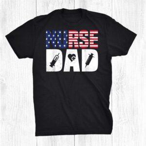 Family65 Nurse Dad Distress American Flag Shirt
