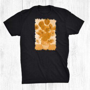 Famous Painting Sunflowers Van Gogh Stylish Shirt