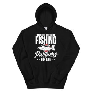 Father And Son Fishing Partners For Life Dad Fishing Hoodie