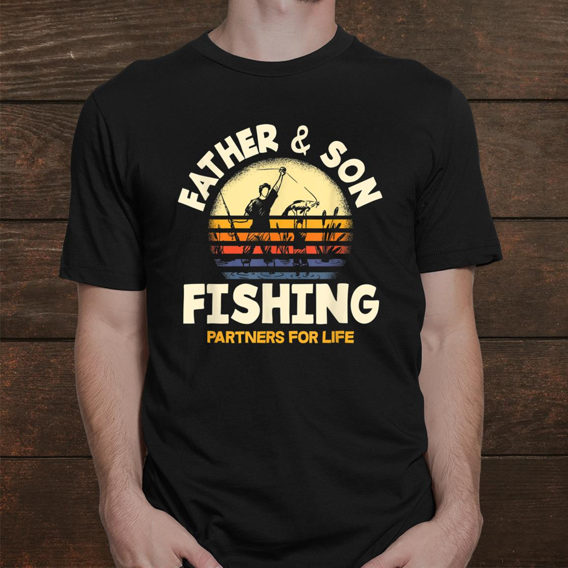 Father And Son Fishing Partners For Life Funny Fishing Shirt