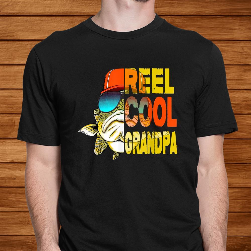 Fathers Day Gifts Tshirt Fishing Reel Cool Grandpa Men