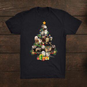 Ferrets Christmas Tree Ferrets Lover Xmas Funnyt Shirt
