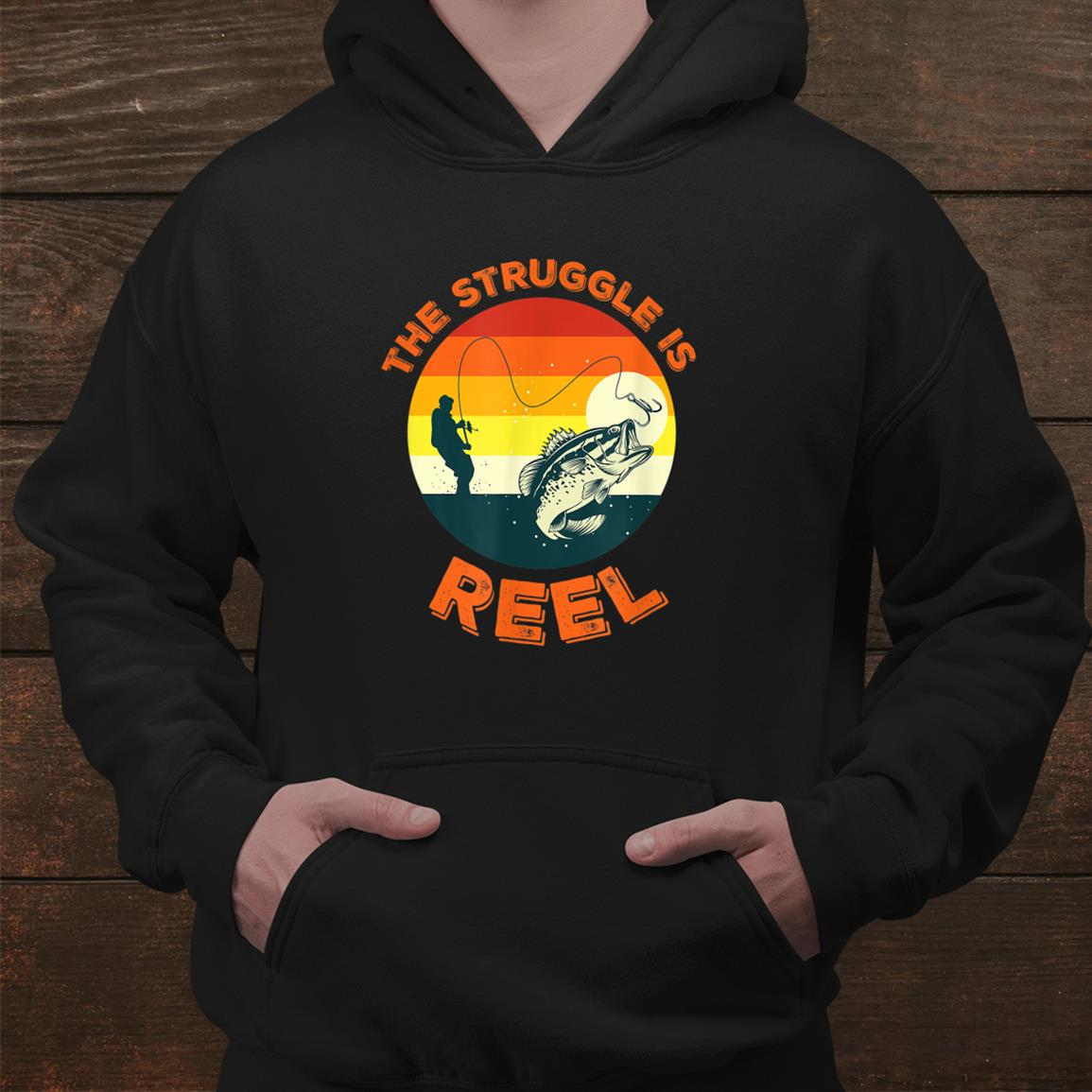 Fishing Retirement The Struggle Is Reel Funny Shirt