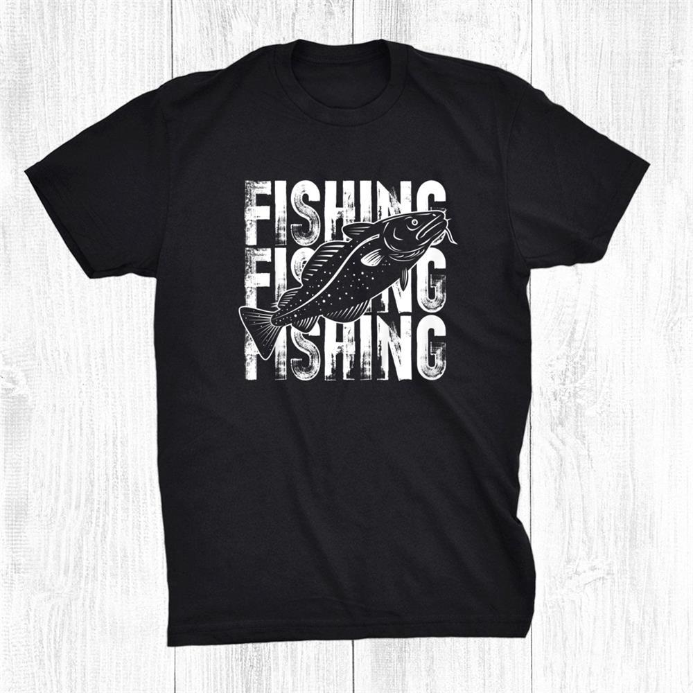 Fishing Word Theme Fish Lover Cod Shirt