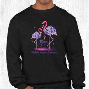 flamingo bladder cancer awareness shirt 2