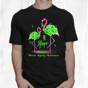 flamingo brain injury awareness shirt 1