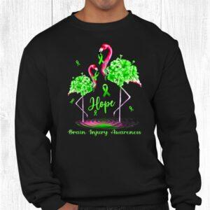 flamingo brain injury awareness shirt 2