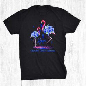 Flamingo Colorectal Cancer Awareness Shirt