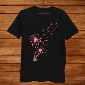 Flamingo Dandelion Flower Shirt