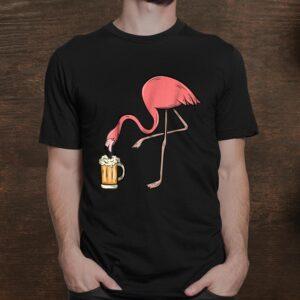 Flamingo Drinking Beer Funny Pink Flamingo Shirt