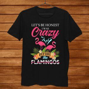 Flamingo Lets Be Honest I Was Crazy Before The Flamingos Shirt