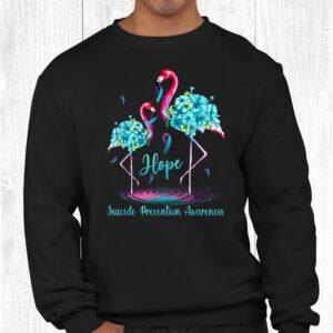 flamingo suicide prevention awareness shirt 2