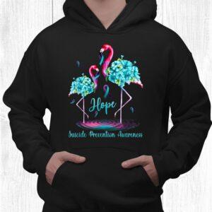 flamingo suicide prevention awareness shirt 3