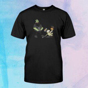 Frankenstein And Mummy Viking Halloween Funny Shirt