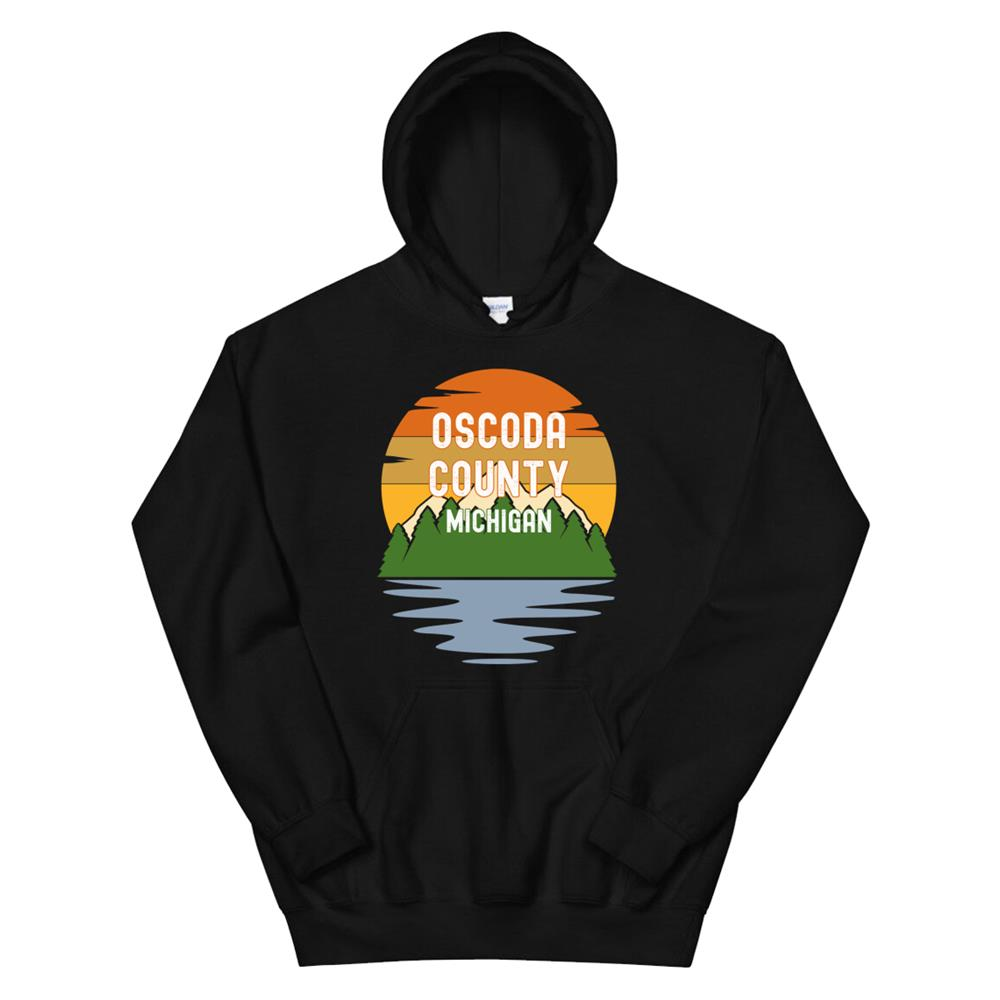 From Oscoda County Michigan Vintage Sunset Hoodie
