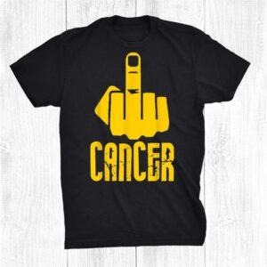 Fuck Cancer Middle Finger Yellow Shirt