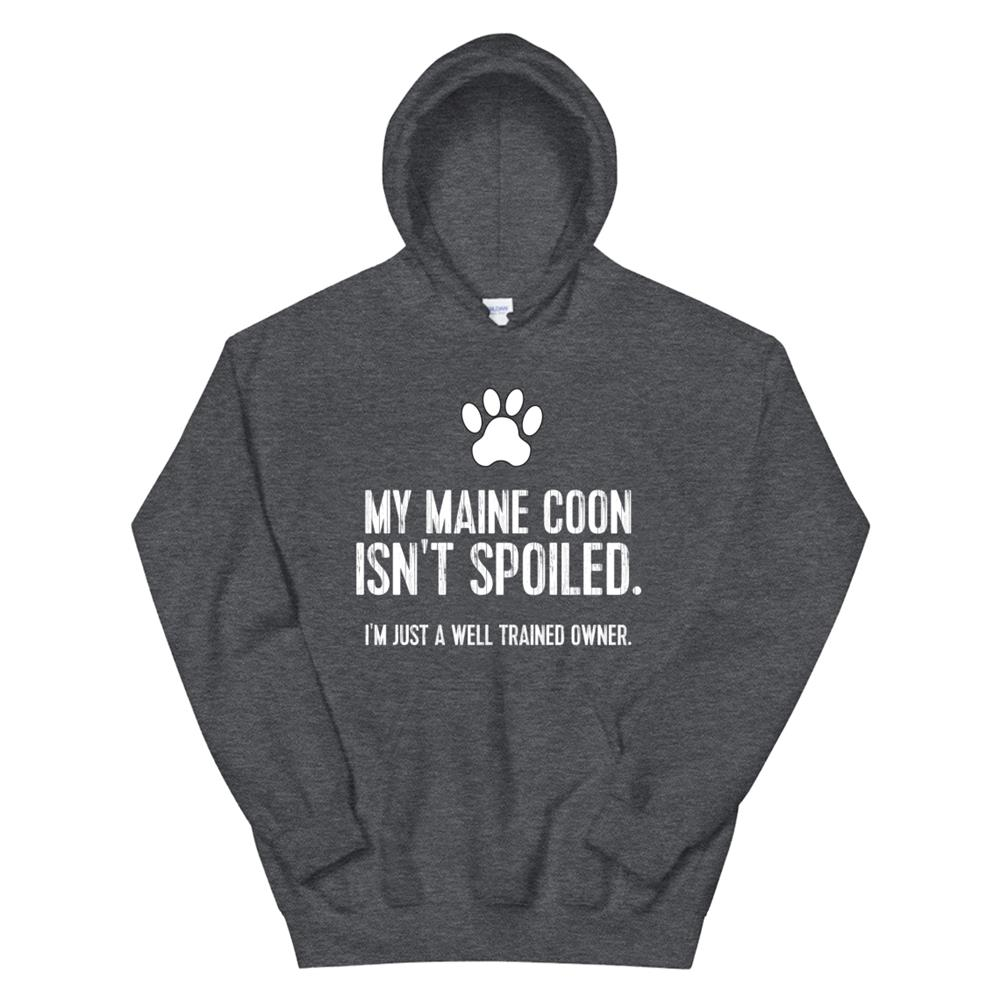 Funny Cat Tshirt My Maine Coon Isnt Spoiled Hoodie