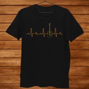 Funny Guitar Heartbeat Shirt Guitar Music Lover Shirt