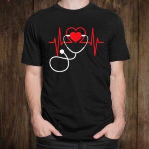 Funny Heart Beats Nurse Nursing Medical  Shirt