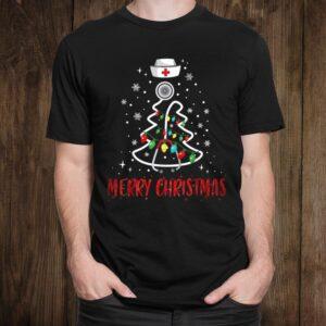 Funny Nurse Christmas Tree Shirt