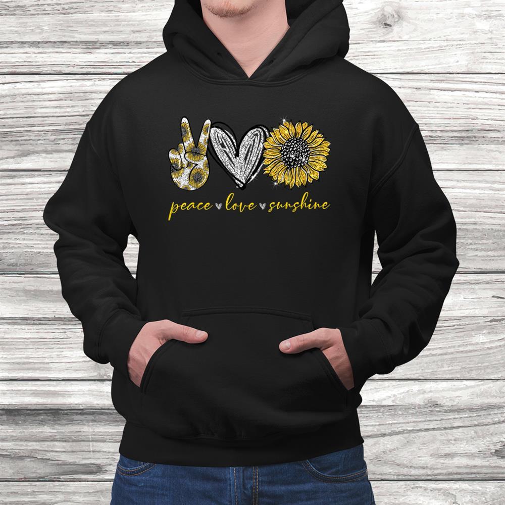 Funny Peace Love Sunshine Hippie Shirt