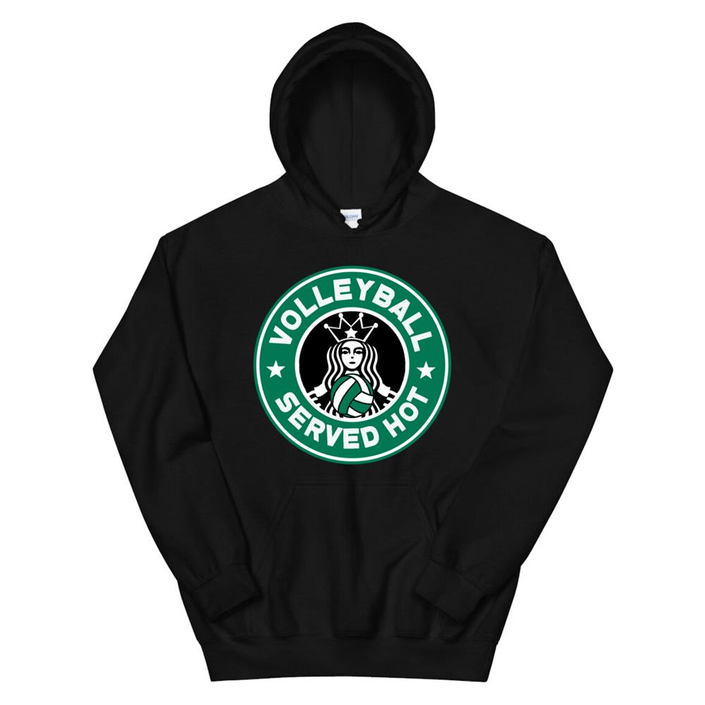Funny Volleyball Served Hot Perfect Teen Players Hoodie