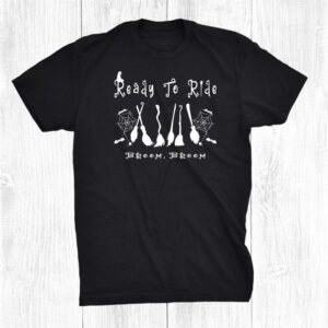 Funny Witch Broom Pun Ready To Ride Halloween Shirt