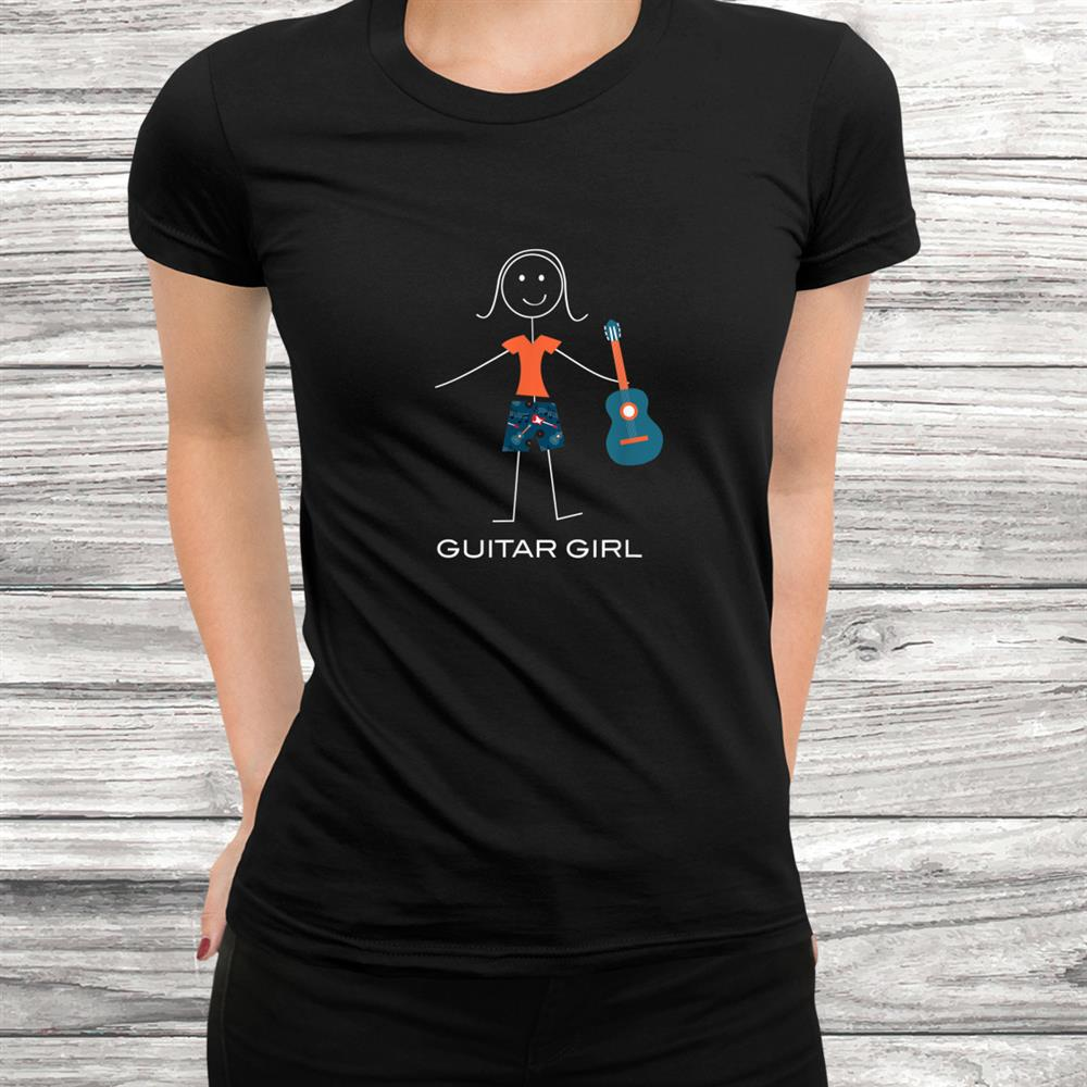 Funny Womens Guitar Design Girl Music Shirt