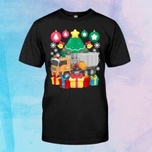 Garbage Truck Christmas Tree Lights Ornaments Xmas Pajamas Shirt