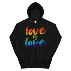 Gay Pride Rainbow Lgbt Love Is Love Hoodie