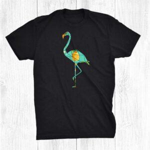 Geometric Flamingo With Pineapple Tropical Pattern Shirt