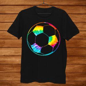Girl Soccer Ball Shirt Rainbow Trippy Hippie Tie Dye Shirt