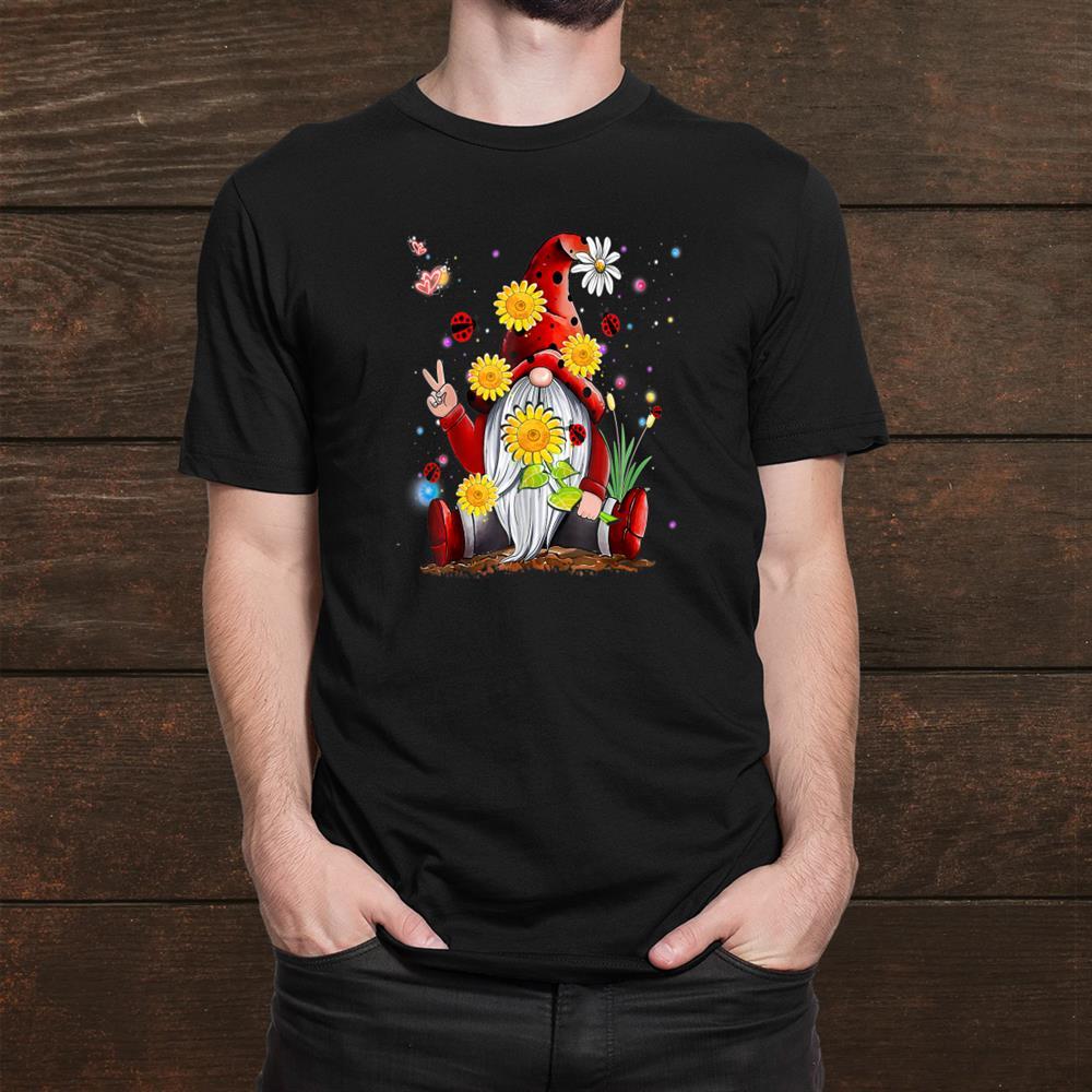 Gnome Gnomies Daisy Flower Hippie Leopard Funny Shirt