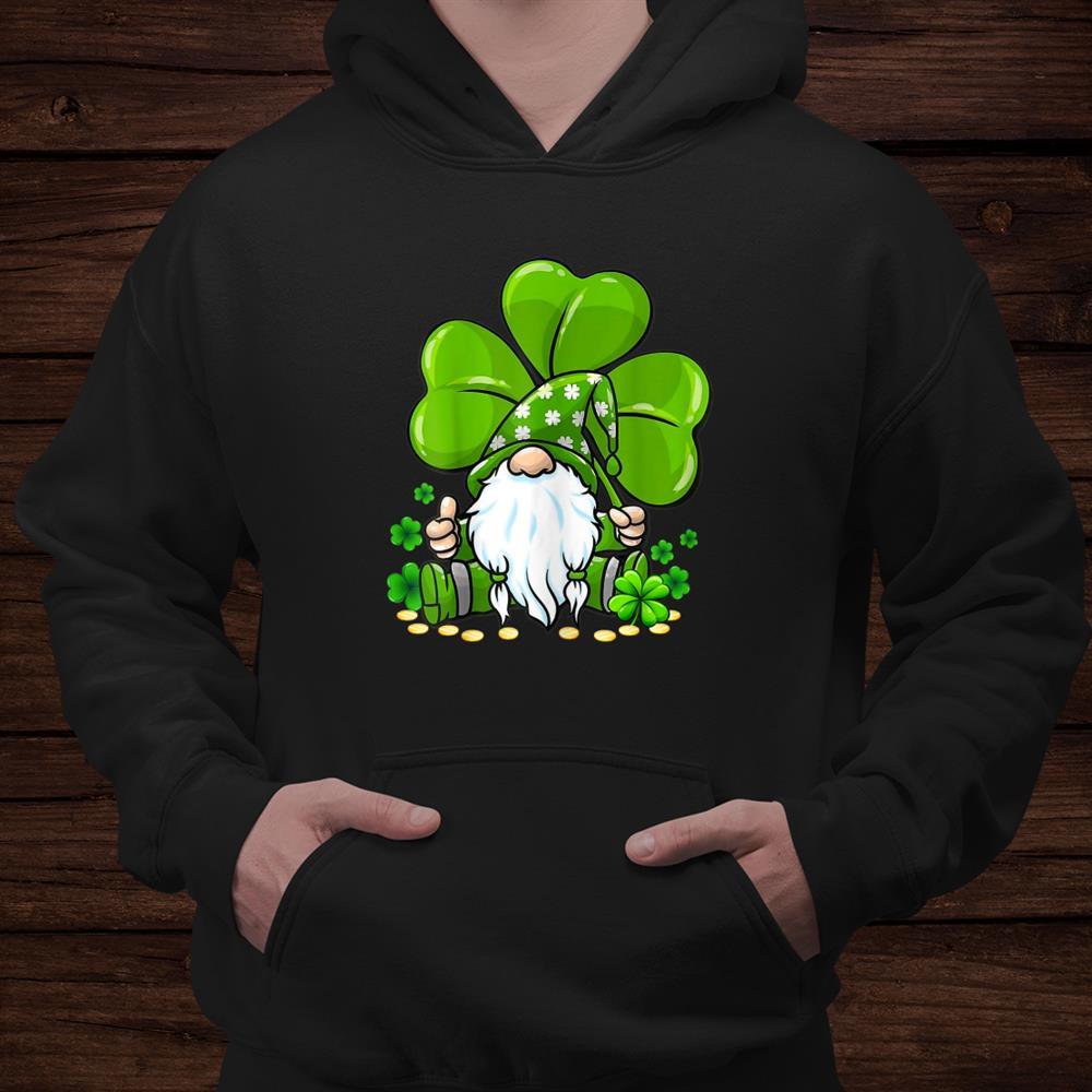 Gnome Tie Dye Shamrock Clover St Patricks Day Hippie Shirt
