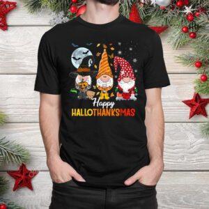 Gnomes Halloween And Merry Christmas Shirt