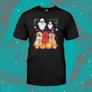 Golden Retriever Halloween Cute Shirt Mummy Witch Demon Satan Shirt