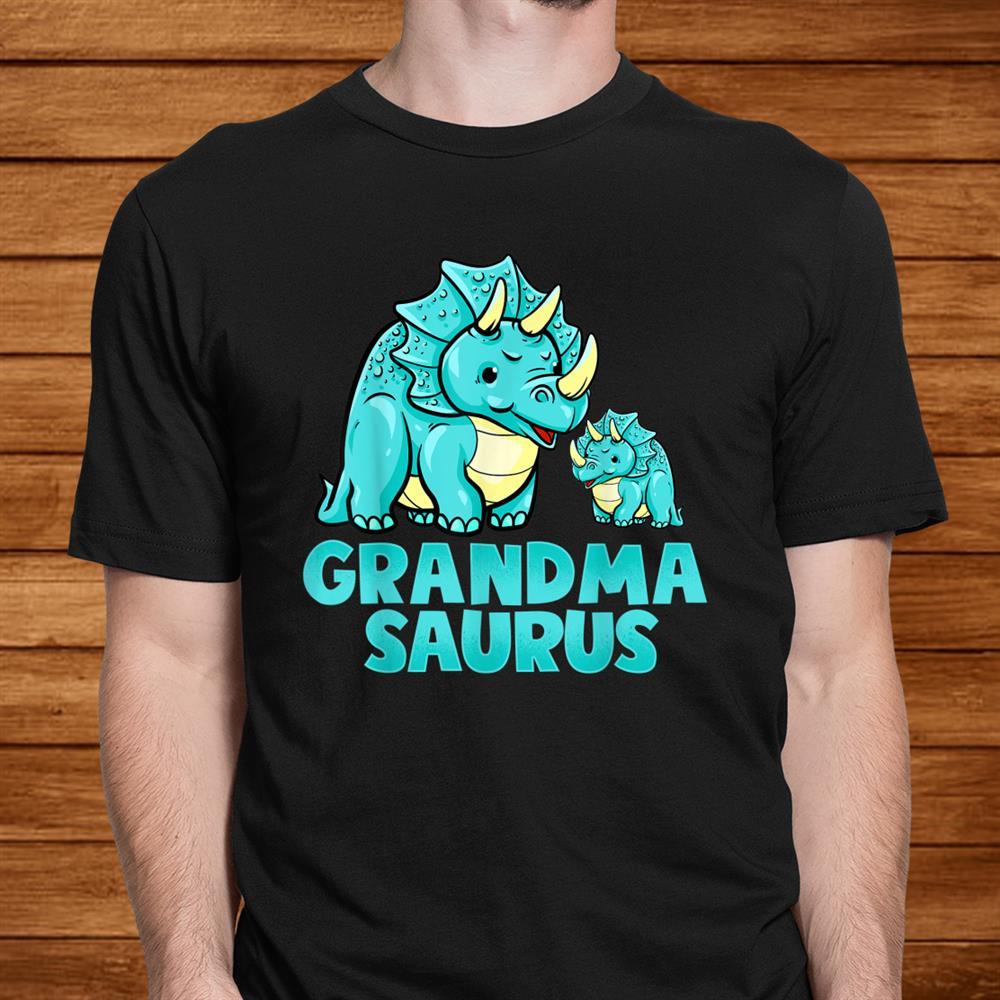 Grandma Saurus Dinosaur Funny Grandmasaurus Shirt For Nana Men