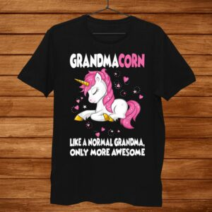 Grandmacorn Shirt Cute Unicorn Lover Gift Grandma Shirt