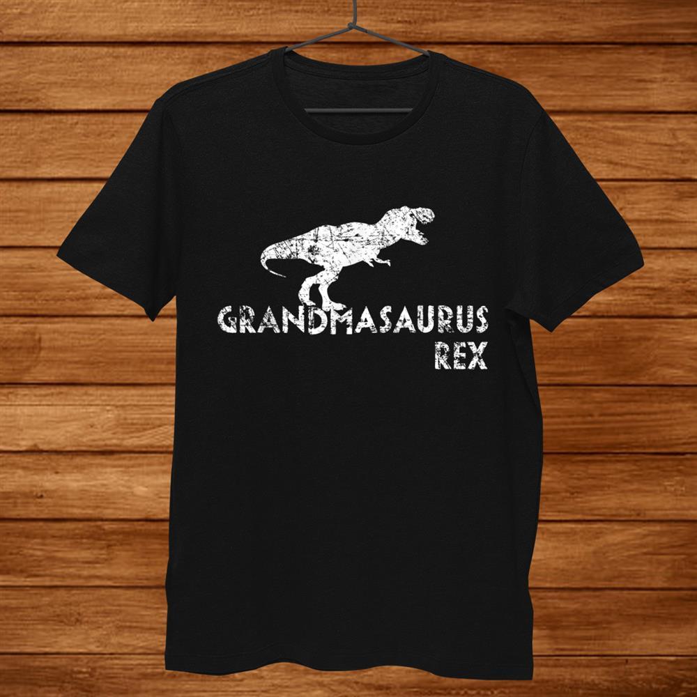 Grandmasaurus Rex Shirt Funny Dinosaur Grandma Shirt