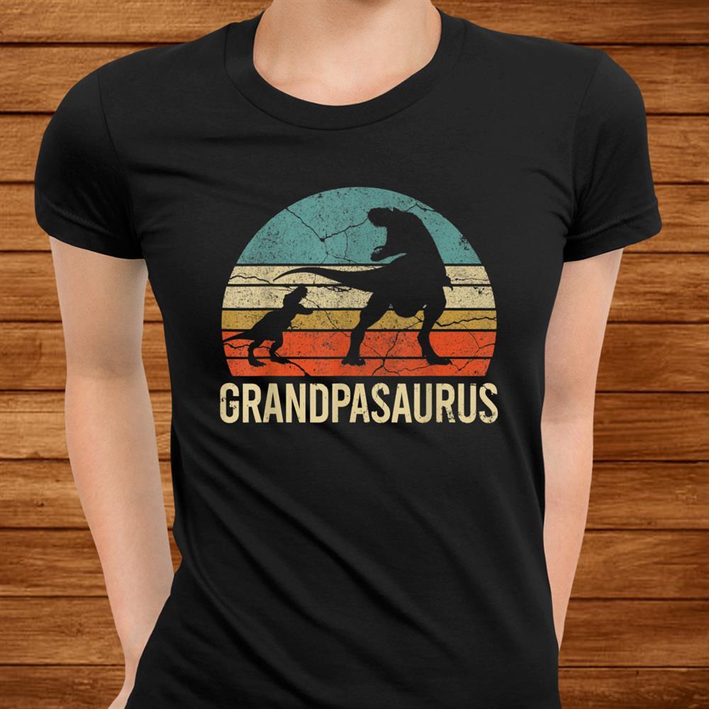 Grandpa Dinosaur Grandson Men Christmas Shirt