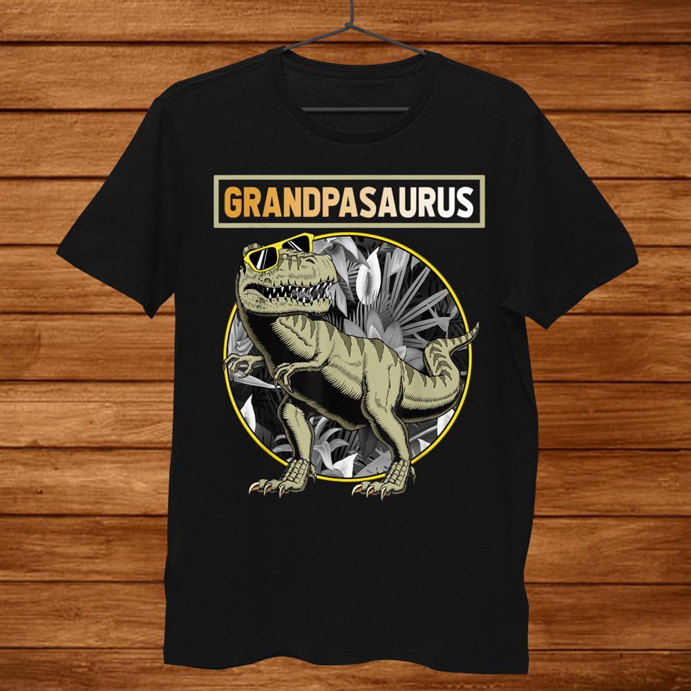 Grandpasaurus Grandpa Dinosaur Shirt