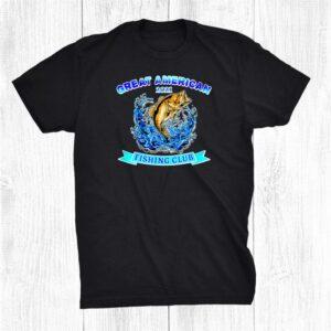 Great American Fishing Club Bass Fisherman Fish Lake Shirt