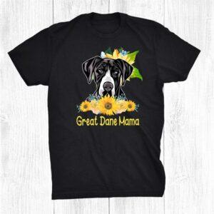 Great Dane Mama Sunflower Great Dane Lover Shirt
