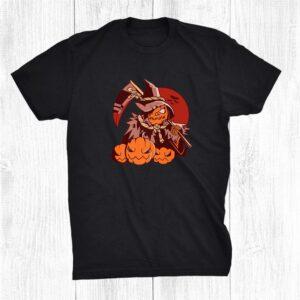 Grim Reaper Pumpkin Halloween Costume Shirt