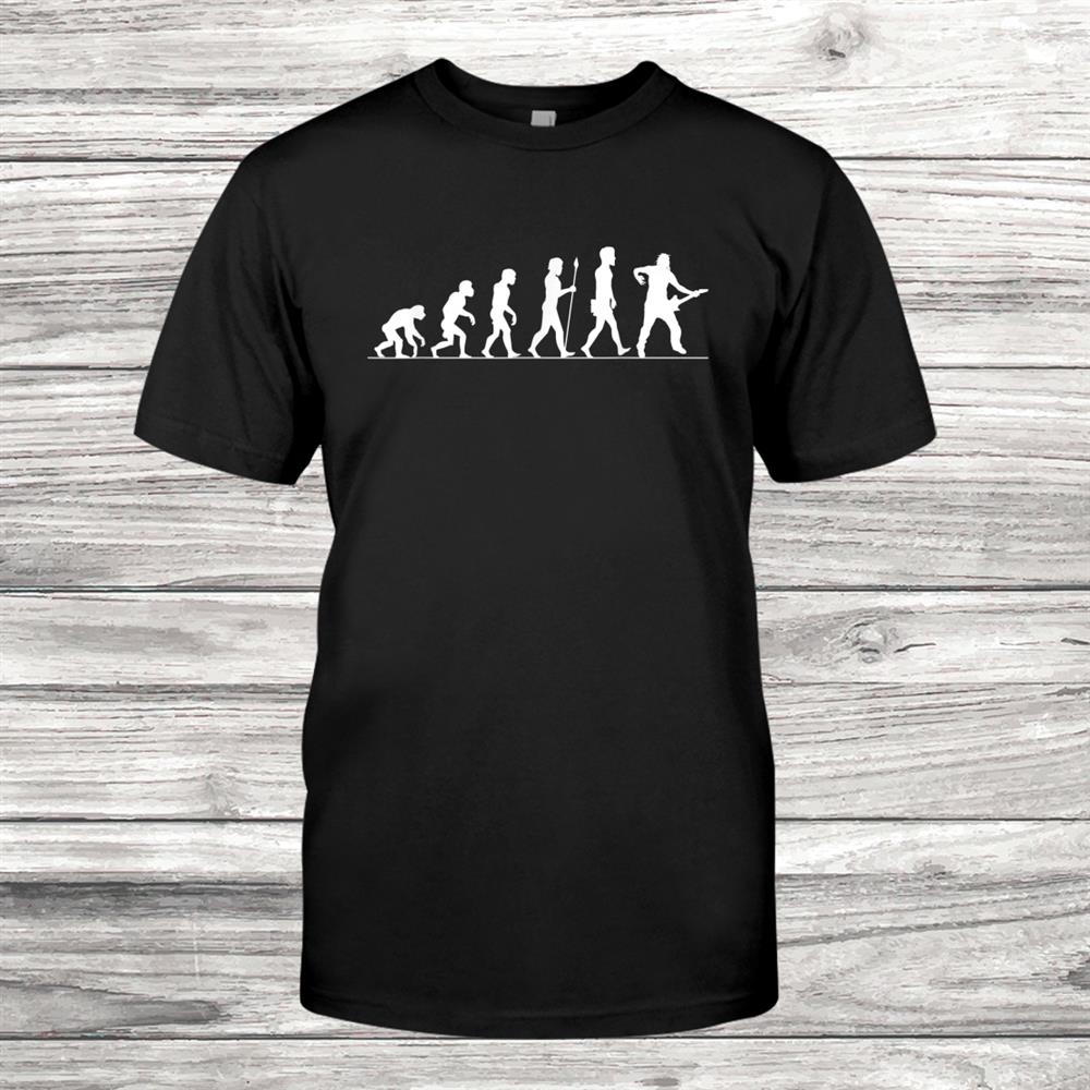 Guitar Evolution Funny Gift For Rocker Guitar Player Shirt